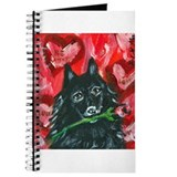 Schipperke Valentine Rose Journal