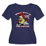 When I grow up Firefighter Women's Plus Size Scoop