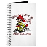 When I grow up Firefighter Journal