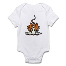 Ib in Orange Infant Bodysuit