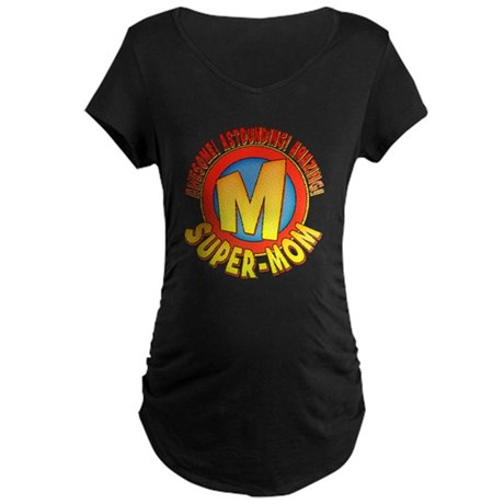 Super-Mom Maternity Dark T-Shirt