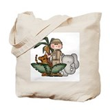 Boy Jungle Safari Tote Bag