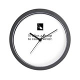 Cute Writer's Wall Clock