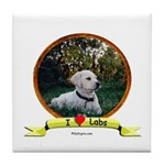 lab puppy Tile Coaster