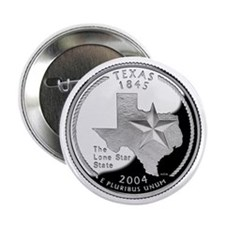 "Texas State Quarter - 2.25"" Button"