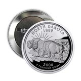 North Dakota State Quarter - 2.25&amp;quot; Button