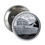 Kentucky State Quarter - 2.25&amp;quot; Button
