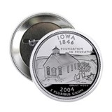 "Iowa State Quarter - 2.25"" Button"