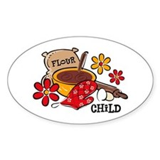 Flour Child Oval Decal