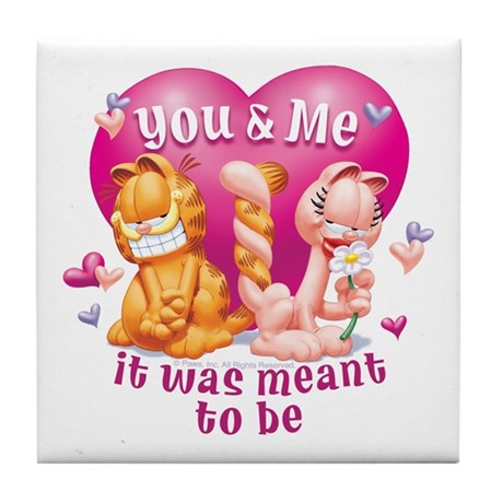 You and Me Tile Coaster