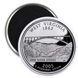 West Virginia State Quarter - Fridge Magnet