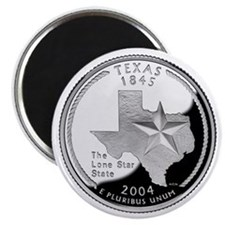 Texas State Quarter - Fridge Magnet