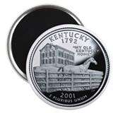 Kentucky State Quarter - Fridge Magnet