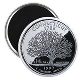 Connecticut State Quarter - Fridge Magnet