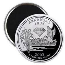 Arkansas State Quarter - Fridge Magnet