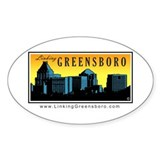 Linking Greensboro Oval Decal