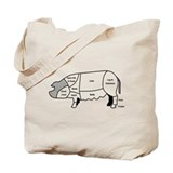 Pork Diagram Tote Bag