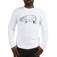 Pork Diagram Long Sleeve T-Shirt