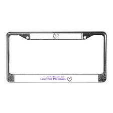 Funny Preemie License Plate Frame