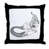 Mermaid/ Siren Throw Pillow