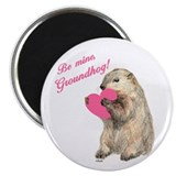 "Be Mine, Groundhog 2.25"" Magnet (100 pack)"