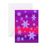 Retro Snowflakes Greeting Cards (Pk of 10)