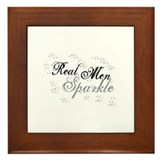 Real Men Sparkle Framed Tile