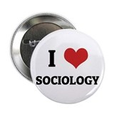 I Love Sociology Button