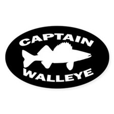 CAPTAIN WALLEYE Oval Sticker (50 pk)