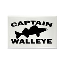 CAPTAIN WALLEYE Rectangle Magnet