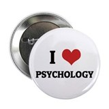 I Love Psychology Button