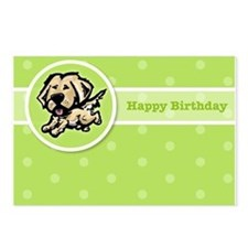 Golden Birthday Postcards (Package of 8)