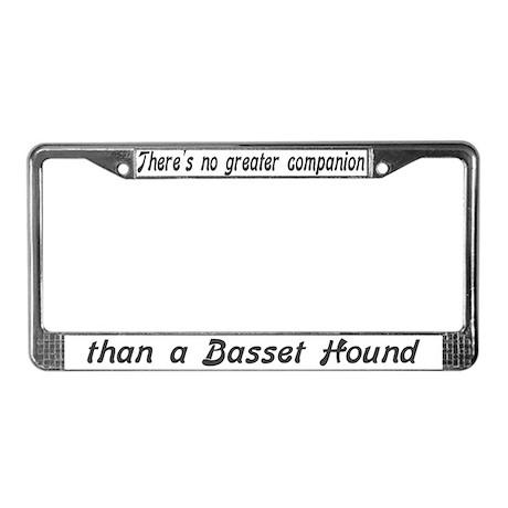 """Basset Hound"" License Plate Frame"