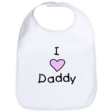 I Love Daddy Bib