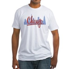 Chicago Red Script in Skyline Shirt
