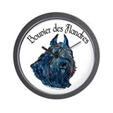 Bouvier des Flandres Black Wall Clock
