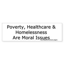 Moral Issues Bumper Sticker (white)
