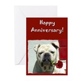 Happy Anniversary Bulldog Greeting Cards (Pk of 20