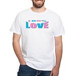 Maternity Love White T-Shirt
