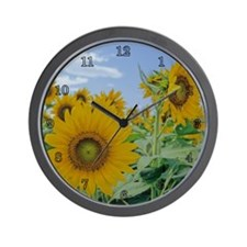 A Sunflower Wall Clock