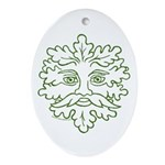 GreenMan Oval Ornament