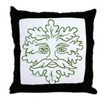 GreenMan Throw Pillow