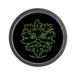 GreenMan Nite Wall Clock