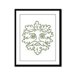 GreenMan Framed Panel Print
