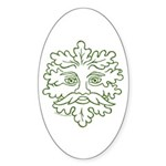 GreenMan Oval Sticker (10 pk)