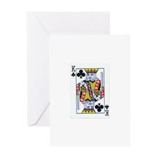 King of Clubs Greeting Card