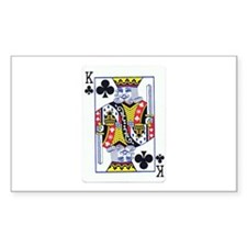 King of Clubs Rectangle Decal