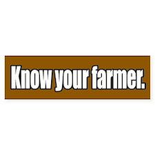 Know Your Farmer Bumper Bumper Sticker