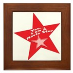 Movie Star Framed Tile