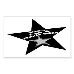 Movie Star Rectangle Sticker